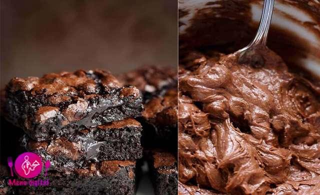 تهیه پخت براونی هواخواهان شکلات
