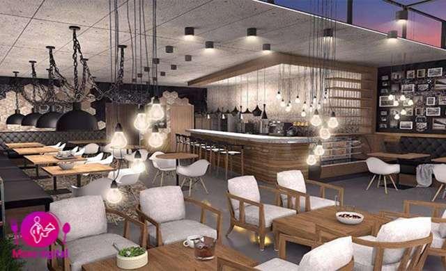 تاثیر کاربردی  تنظیم روشنایی در طراحی داخلی یک کافه